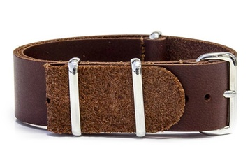 Dark Brown Leather NATO Strap