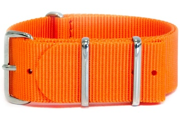 Vibrant orange watch strap