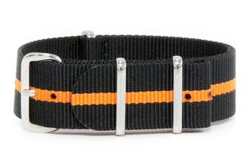 Brown and Orange NATO Strap
