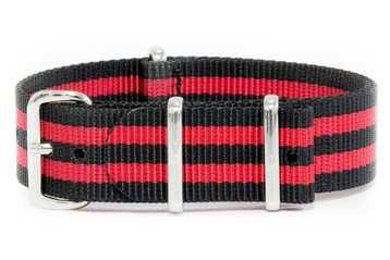 Black and Red Striped NATO Strap