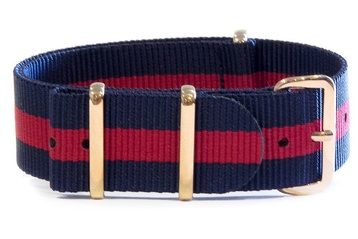 Navy & Red (with gold buckles)