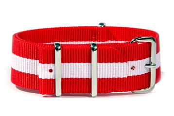 Red & White watch strap